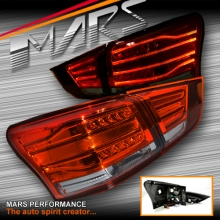 Smoked Red LED 3D Stripe Bar Tail Lights for Isuzu MU-X 2013-2016