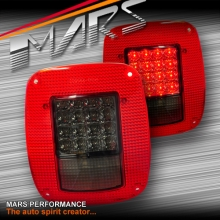Smoked Red LED Tail Lights for 76-06 Jeep Wrangler