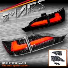 JDM Black 3D Red LED Stripe Bar Tail light with Sequential Indicators for Lexus CT200H Hatch