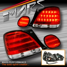 Clear Red LED Tail lights with Trunk lights for Lexus GS300 98-05 JZS160R