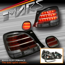 Full Smoked LED Tail lights with Trunk lights for Lexus GS300 98-05 JZS160R