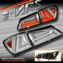 Crystal Clear 3D Stripe Full LED Tail Lights for Lexus ISF IS250 IS350 GSE20R 05-13