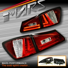Clear Red 3D Stripe Bar LED Tail Lights for Lexus ISF IS250 IS350 GSE20R 05-13