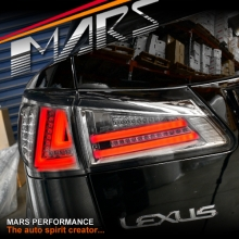 Full Smoked 3D Stripe Full LED Tail Lights for Lexus ISF IS250 IS350 GSE20R 05-13
