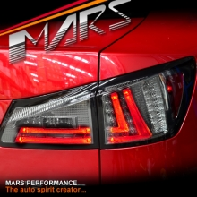 Full Smoked 3D Stripe Bar LED Tail Lights for Lexus ISF IS250 IS350 GSE20R 05-13