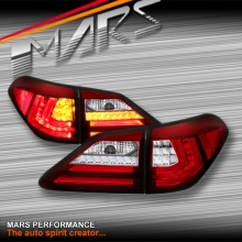 Clear Red 3D Stripe Bar LED Tail light with Sequential Indicators for Lexus RX270 RX350 RH450H 09-15