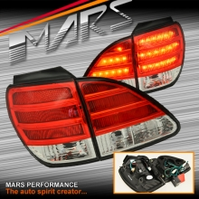 Clear Red LED Tail Lights with garnish for Lexus RX300 XU10 99-03