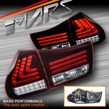 Clear Red 3D Stripe Bar Tail light with LED Indicators for Lexus RX330 RX350 RX400H 03-08