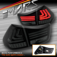 Smoked Black 3D Stripe Bar Tail light with LED Indicators for Lexus RX330 RX350 RH400H 03-08