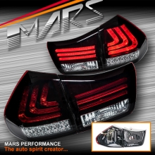 Smoked Red 3D Stripe Bar Tail light with LED Indicators for Lexus RX330 RX350 RH400H 03-08