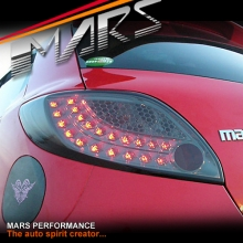 Full Smoked LED Tail Lights for Mazda 2 Hatch DE 07-13