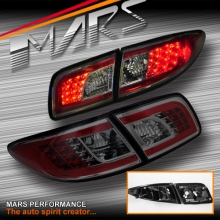 Full Smoked LED Tail Lights for Mazda 6 GG Sedan & Hatch 02-07