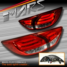 Clear Red 3D LED Stripe Bar Tail lights with LED Indicators for Mazda CX-5 KE 12-15 KS