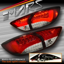 Clear Red 3D LED Stripe Bar Tail lights with LED Indicators for Mazda CX-5 KE 12-15