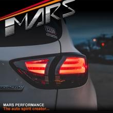 Full Smoked 3D LED Stripe Bar Tail lights with LED Indicators for Mazda CX-5 KE 12-15 KS