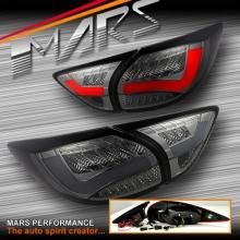 Full Smoked 3D LED Stripe Bar Tail lights with LED Indicators for Mazda CX-5 KE 12-15