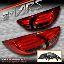 Smoked Red 3D LED Stripe Bar Tail lights with LED Indicators for Mazda CX-5 KE 12-15 KS