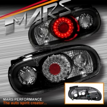 On Back Rear Tail Lights LED Clear Black Pair For Mazda Mx5 Nb 98-05