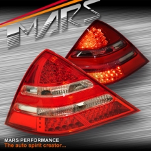 Clear Red LED Tail Lights for Mercedes-Benz SLK-CLASS R170 97-03