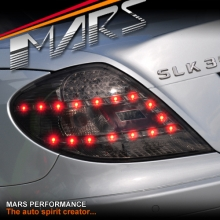 Full Smoked LED Tail Lights for Mercedes-Benz SLK R171 Convertible