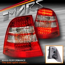 Clear Red LED Tail Lights for Mercedes-Benz ML-Class W163 97-05