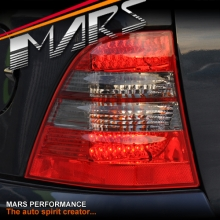 Smoked Red LED Tail Lights for Mercedes-Benz ML-Class W163 97-05