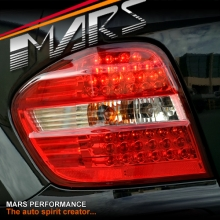 Clear Red LED Tail Lights for Mercedes-Benz ML-Class W164