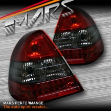 Smoked Red LED Tail Lights for Mercedes-Benz C-Class W202 94-00