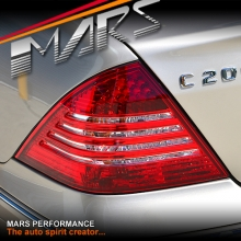 Clear Red LED Tail Lights for Mercedes-Benz C-Class W203 4 doors Sedan 05-07