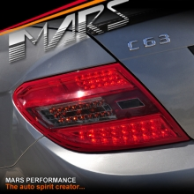 Smoked Red LED Tail Lights for Mercedes-Benz C-Class W204 07-10 Sedan KS