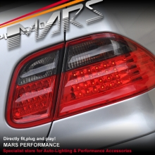 Smoked Red LED Tail Lights for Mercedes-Benz CLK W208 C208