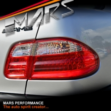 Clear Red LED Tail Lights for Mercedes-Benz E-Class W210 4 doors Sedan
