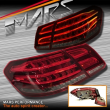 Smoked Red Full 3D LED Tail lights for Mercedes-Benz E Class W212 Sedan 09-13