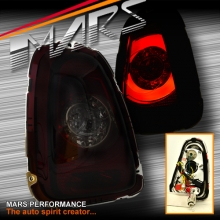 Smoked Red Tail lights with 3D Stripe Bar & LED Indicators for Mini Cooper Hatch 07-13