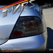 Smoked Black LED Tail lights for Mitsubishi Lancer CH 03-07 Sedan