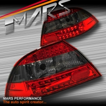 Smoked Red Led Tail Lights For Mitsubishi Lancer Ch 03 07