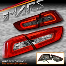 JDM Varis 3D LED Tail lights for Mitsubishi Lancer CJ CF & EVO X Sedan 07-17
