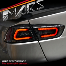 JDM Varis Full Smoked 3D LED Tail lights for Mitsubishi Lancer CJ CF & EVO X Sedan 07-17