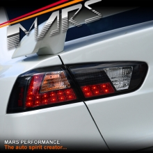 Black LED Tail lights for Mitsubishi Lancer CJ CF & EVO X Sedan 07-17