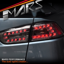 Smoked LED Tail lights for Mitsubishi Lancer CJ & EVO X Sedan 07-16 KS
