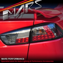 Smoked LED Tail lights for Mitsubishi Lancer CJ CF & EVO X Sedan 07-17