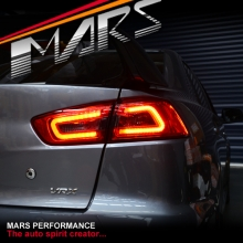 JDM Varis Smoked Red 3D LED Tail lights for Mitsubishi Lancer CJ CF & EVO X Sedan 07-17