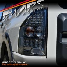 Smoked Black LED Tail lights for Mitsubishi Pajero NM NP 00-06