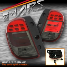 Smoked Red 3D LED Stripe Tail Lights for Nissan Micra K13 10-14