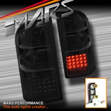 Smoked Black LED Tail lights for Nissan Patrol GU 97-04