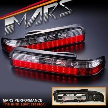 Clear Red JDM LED Tail lights for Nissan Silver S13