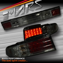 Full Smoked LED Tail Lights with Center Garnish for Nissan 200SX Silvia S14 93-98