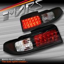 JDM Black LED Tail Lights for Nissan 200SX Silvia S14 93-98