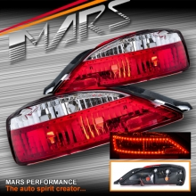 Crystal Eye Clear Red LED Tail Lights for Nissan 200SX Silvia S15 200SX