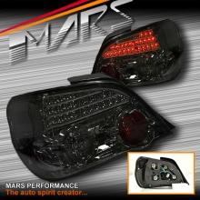 JDM Smoke Black LED Tail Lights for Subaru Impreza GD 03-06 Sedan